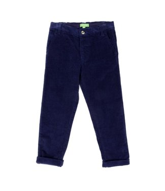 Lily Balou Lily Balou Noah velor pants Dark Blue