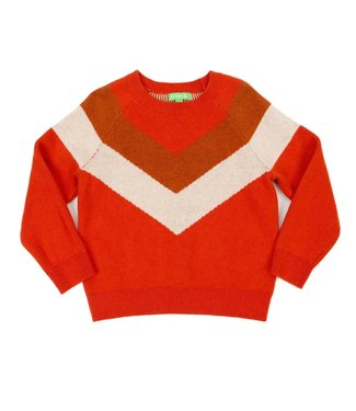 Lily Balou Lily Balou girls sweater Livia Tangerine Red