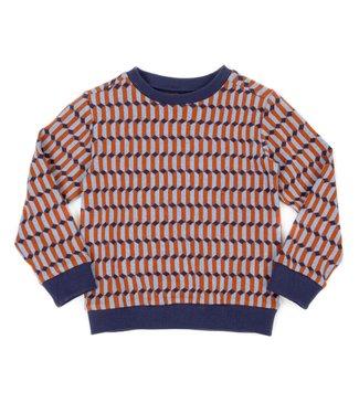 Lily Balou Lily Balou sweater Mika Blocks Blue