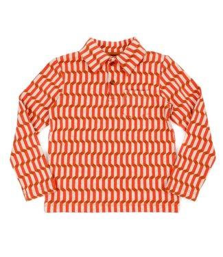 Lily Balou Lily Balou boys polo shirt Blocks Red