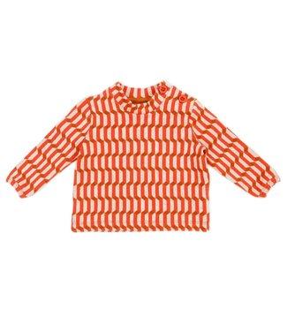 Lily Balou Lily Balou Tee shirt Bébé Francis Blocks Rouge