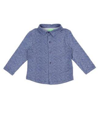 Lily Balou Lily Balou shirt Lucas Texture Blue