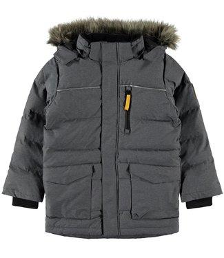 Name-it Name-it boys winter jacket NKMMANSON Down Dark Gray Melange