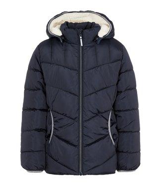 Name-it Manteau d'hiver pour filles Name-it NKFMUS Puffer Dark Sapphire