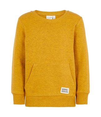 Name-it Name-it boys sweater NMMVAN Golden Orange