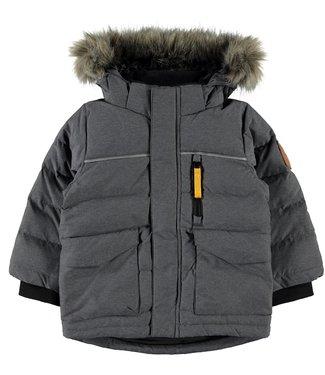 Name-it Name-it boys winter jacket NMMMANSON Down Dark Gray Melange