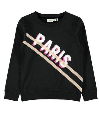 Name-it Name-it girls sweater NKFORMA Black