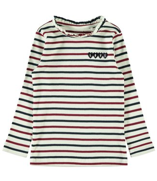 Name-it Name it t shirt fille rayé NMFOSTRIPE Blanche Neige