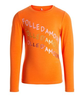 Name-it Name-it meisjes t shirt NKFNICLA Mandarin Orange