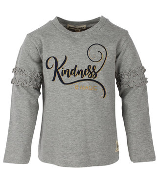 Small rags Small Rags grijze meisjes tshirt Kindness
