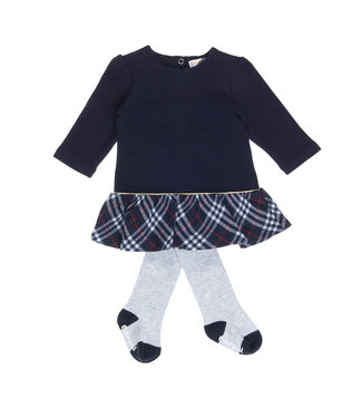 Babybol Robe bleue pour filles Babybol + collants gris