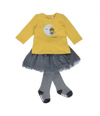 Babybol Babybol girls clothing set 3pcs To the moon