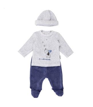 Babybol Babybol 2-piece boys pajamas + hat It's cold outside