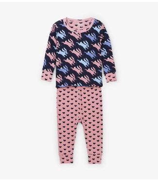 Hatley Hatley miejses 2-delige pyjama Sweet Bunnies