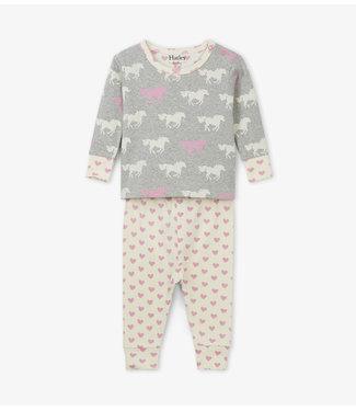 Hatley Hatley miejses 2-delige pyjama Pasture Horses
