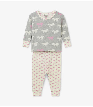 Hatley Hatley miejses pyjama en deux parties, chevaux de pâturage