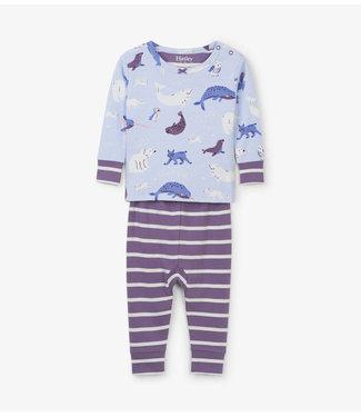Hatley Hatley miejses pyjama en 2 parties Polar Critters