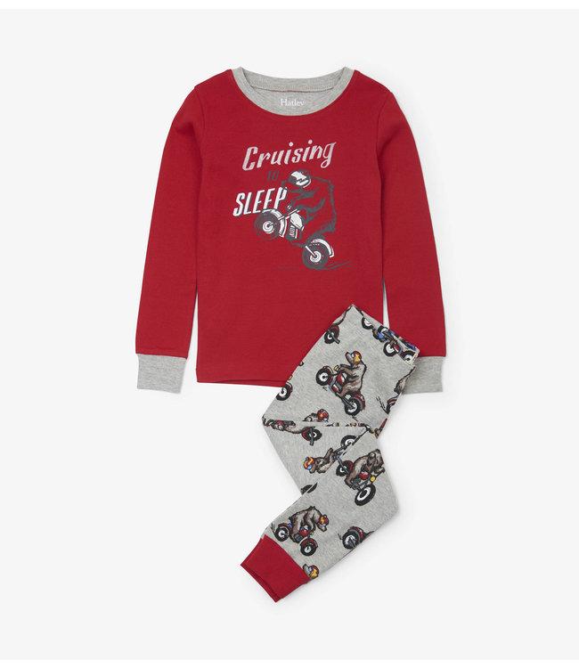 Hatley Hatley jongens 2-delige pyjama Biking Bears