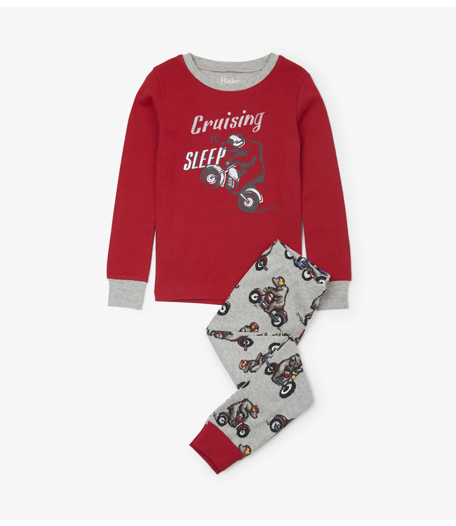 Hatley Hatley pyjama 2 pièces ours de vélo