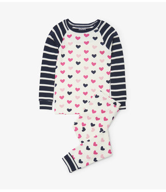 Hatley Hatley girls 2-piece pajamas Lovey Hearts