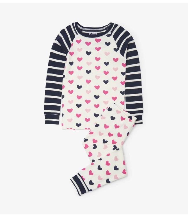 Hatley Pyjama 2 pièces Hatley Lovey Hearts