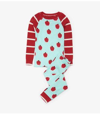 Hatley Pyjama en 2 parties pour filles Hatley, pommes et pois