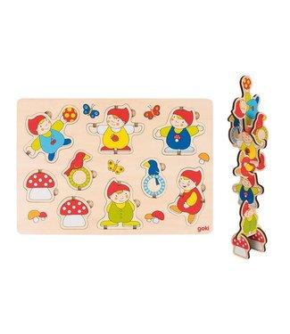 Goki Goki bouw puzzel Dwergen 2+