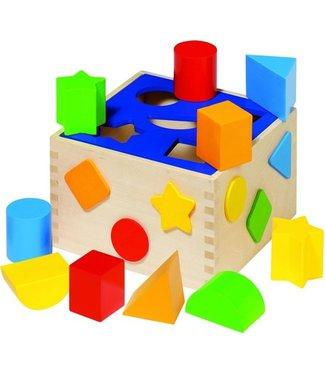 Goki Boîte de tri Goki diverses formes 12 pièces