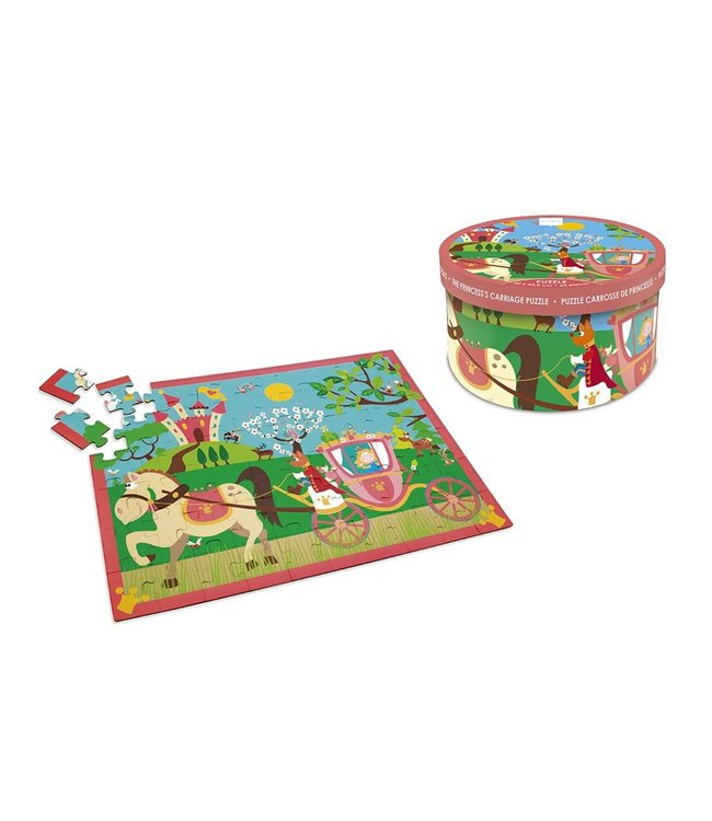 Scratch Scratch Puzzle 60 pcs Princess carriage