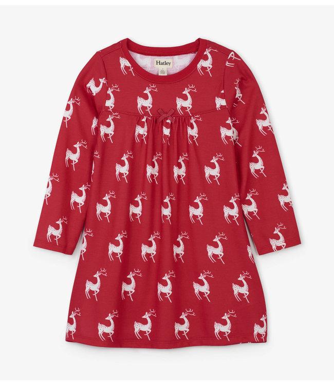 Hatley Hatley rose nuit robe de cerf