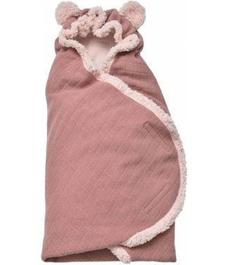Lodger Couverture Lodger Wrap - Wrapper Botanimal - rose foncé