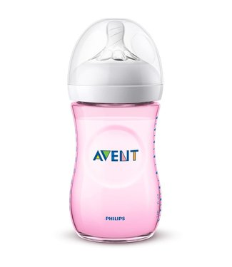 Avent Avent Natural 2.0 baby bottle 260ml Pink