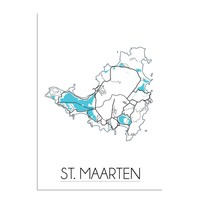 St. Maarten Plattegrond poster