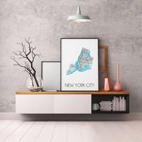 New York City Plattegrond poster