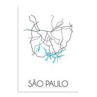 Sao Paulo Plattegrond poster