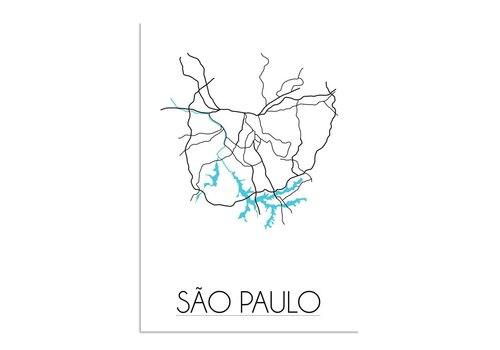 DesignClaud Sao Paulo Plattegrond poster