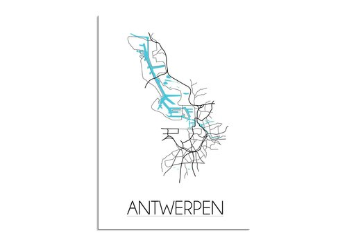 DesignClaud Antwerpen Plattegrond poster