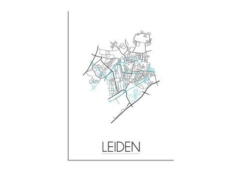 DesignClaud Leiden Plattegrond poster