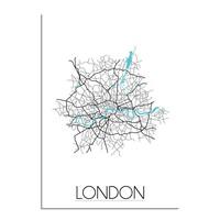 London Plattegrond poster