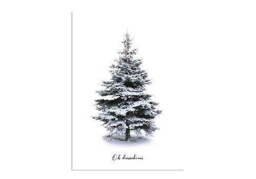 DesignClaud Oh Denneboom kerstboom poster - Kerst poster - Kerstboom