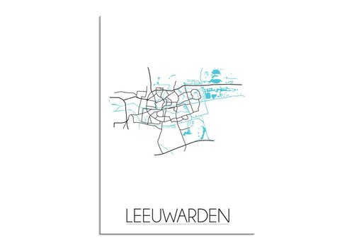 DesignClaud Leeuwarden Plattegrond poster