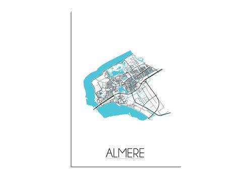 DesignClaud Almere Plattegrond poster