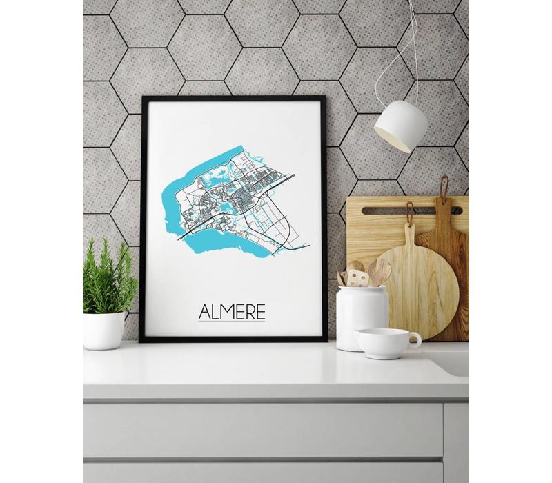 Almere Plattegrond poster