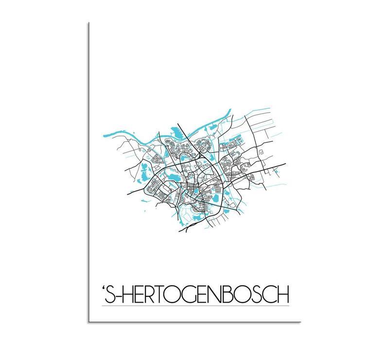 s-Hertogenbosch Plattegrond poster