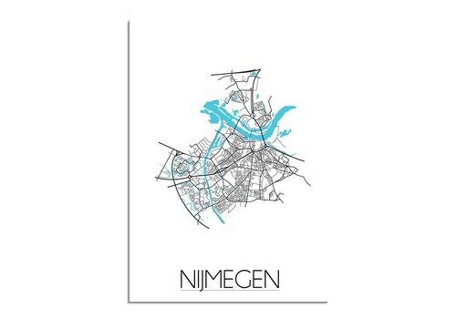 DesignClaud Nijmegen Plattegrond poster