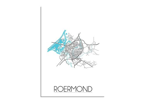 DesignClaud Roermond Plattegrond poster