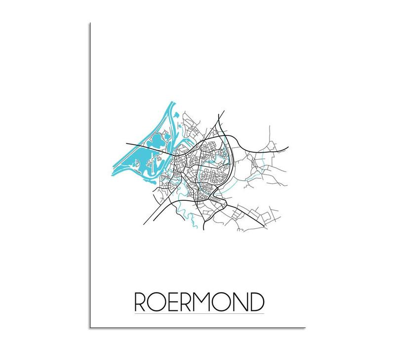 Roermond Plattegrond poster