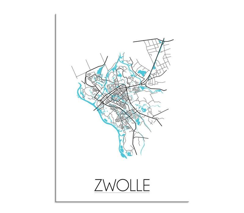 Zwolle Plattegrond poster
