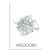 Apeldoorn Plattegrond poster