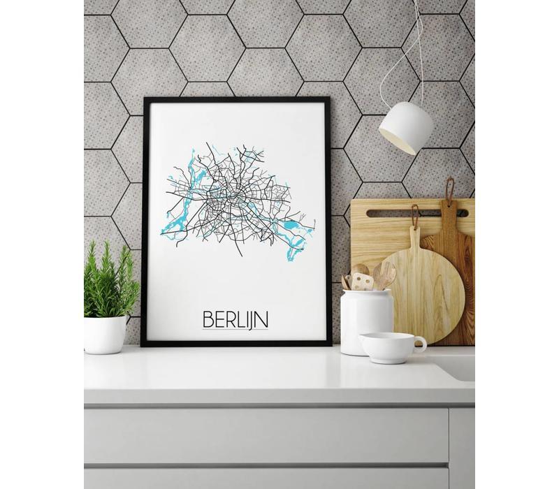 Berlijn Plattegrond poster
